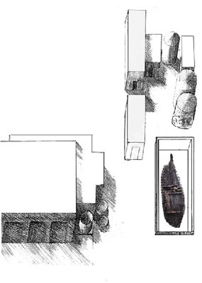 Plan view of the wood conservation vat under construction